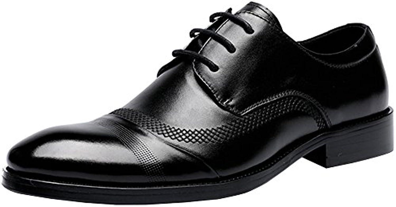 MYXUA Herren Business Casual Schuhe Hochzeit Schuhe Klassische Spitz ...