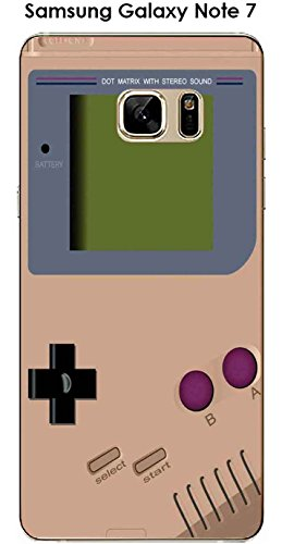 Cover samsung galaxy note 7 design game boy toasted almond