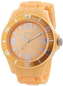 Oozoo - C4348 soft salmon - Montre Homme - Quartz Analogique - Bracelet Silicone Orange