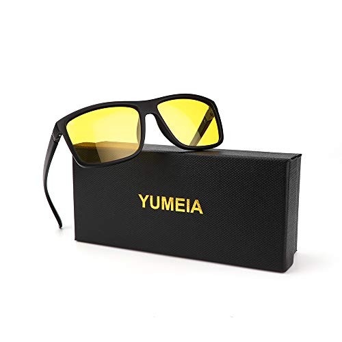 YUMEIA Polarisierte Sonnenbrille für Herren und Damen - Angeln, Fahren, Sonnenbrillen, Gelb (gelb), Large