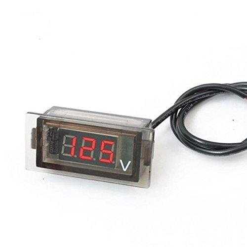 Preisvergleich Produktbild GOZAR Auto Auto Mini Digital Led Spannungsanzeige Panel Voltmeter Voltmeter-Rot