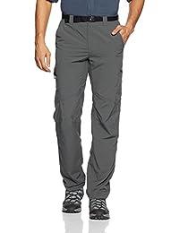 Columbia Silver, Pantalones de senderismo para hombre, Negro (Grill), 28W/32L