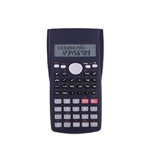 WM Home Kleiner tragbarer Taschenrechner Multifunktions-Studenten-Wissenschafts-Funktions-Taschenrechner-Knopf-Test-Taschenrechner Schwarz