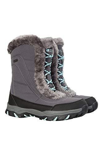 Mountain warehouse ohio stivali da neve donna - impermeabili, rivestimento isotermico e suola in gomma per un maggiore comfort grigio 37
