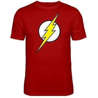 Mens Flash Logo Big Bang Theory Sheldon T-shirt Red Large