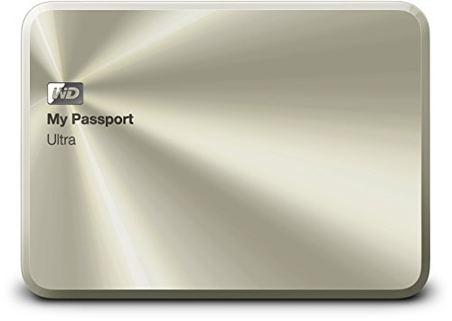 Western Digital WDBEZW0020BCG-EESN - Disco duro externo My Passport Ultra Metal 2 TB USB 3.0 oro