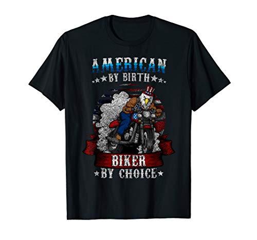4. Juli Bald Eagle Biker Motorrad Onkel Sam Hat Geschenk T-Shirt