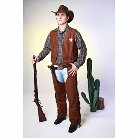 48/50 Cowboy-Weste, braun