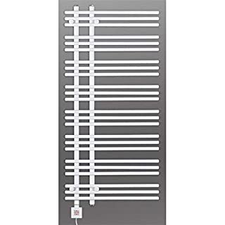 Electric Towel Rail, Heated Towel Rail, White Straight, Incl. Heating Element, Fix and Delivered - White, 1300h x 600b