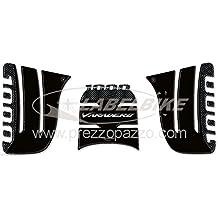Kit de 3 Adhesivos 3d Protección Carbono Compatible para Moto Honda Varadero 1000