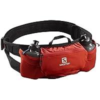 Salomon Cinturón de running con 2x botellas de 200 ml, energy belt, rojo