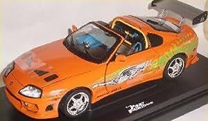 toyota supra orange the fast and the furious 1 18 amt ertl modellauto modell auto sonderangebot. Black Bedroom Furniture Sets. Home Design Ideas