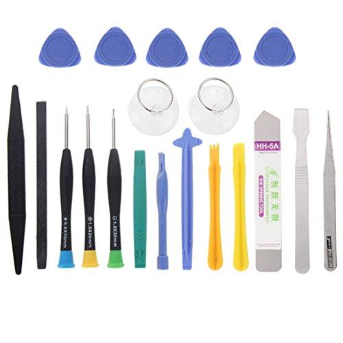wortek 20 in 1 Universal Reparatur Werkzeugset Set Display für Smartphones, Handys, PCs, Konsolen, Tablets, eReader & eBooks (großes Set)