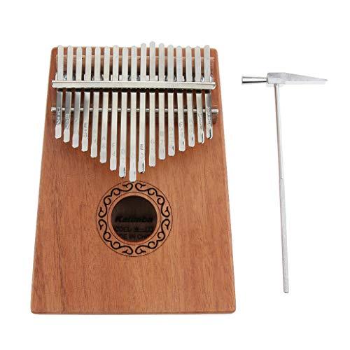 FLAMEER Kalimba 17 Schlüssel Daumenklavier Spielzeug Afrikanischen Musikinstrument mit Tuning-Tool und Tasche