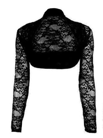 karma bol ro manches longues dentelle femme noir onesize v tements et accessoires. Black Bedroom Furniture Sets. Home Design Ideas