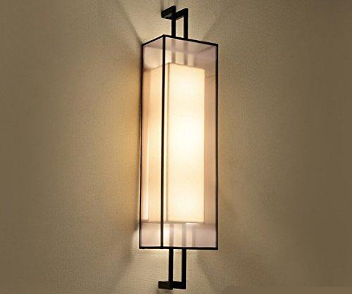 ZHGI Cinese lampada a parete semplice Cinese moderno posto letto in ferro luce lampada soggiorno ristorante corridoio rettangolare Lampada parete,E