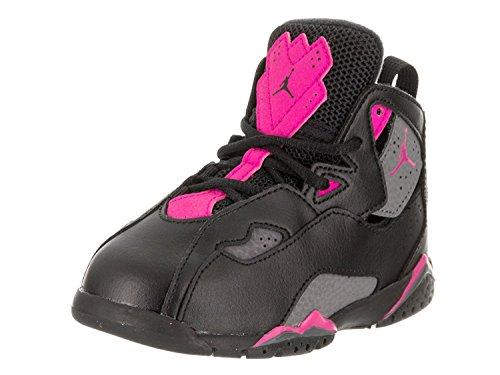 Nike Toddlers True Flight GT Schwarz / Dunkel / Grau / Deadly / Pink Basketballschuh 7 Kleinkinder US Jordan-schuhe Für Kleinkinder Mädchen
