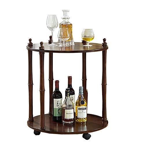 ZR- Tavolino in Legno di Gomma Tavolino a Due Livelli Tavolino da Comodino per Telefono Cellulare Comodino da Comodino 48 x 68,5 cm Mobilia (Color : B)