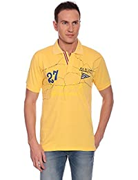 27Ashwood Tshirts For Men Branded,mens Tshirt Half Sleeve,branded T Shirts For Men, Men's Yellow Collar Polo T-shirt