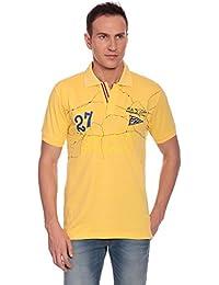 27Ashwood Tshirts For Men Branded,mens Tshirt Half Sleeve,branded T Shirts For Men, Men's Yellow Collar Polo T-shirt