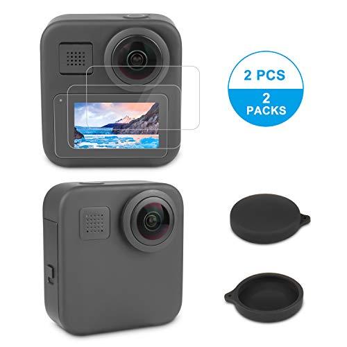 Protection d'écran pour Caméra GoPro Max, iTrunk HDFilm Protecteur d'écran, Bouchons d'objectif pour GoPro Max (Lot de 2)