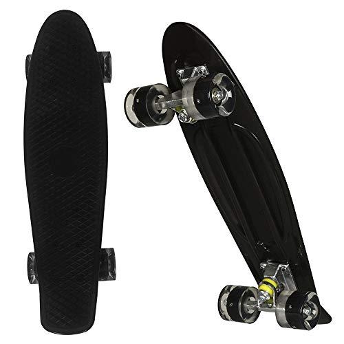 WeSkate Kinder Mini Cruiser Board Komplettboard, 57cm Retro komplettes Skateboard für Jugendliche und Erwachsene Jungen Mädchen Kinder ab 4 jahre, vielfarbige Decks und Rollen zur Auswahl