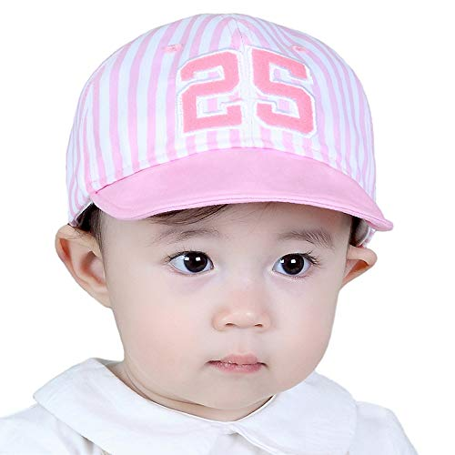 e153e3d48cf3 (Striped letters-Pink) - iHomey Baby Toddler Girls Large Brim Sun Hat with