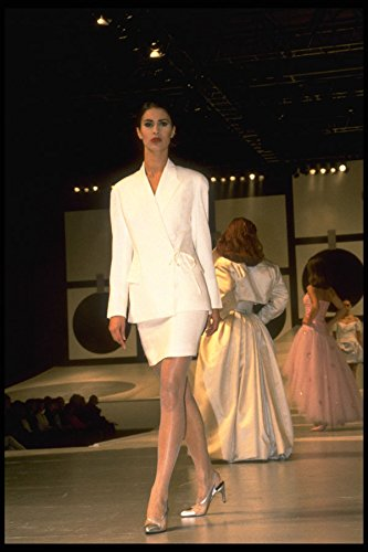 548007 White Jacket And Thigh length Skirt A4 Photo Poster Print 10x8