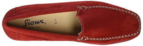 Sioux  Campina, Mocassins (loafers) femme Rot (Chili)