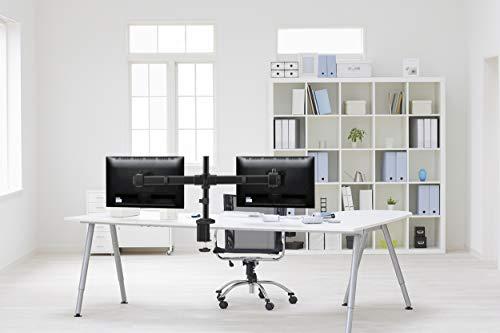 RICOO Tischhalterung für 2 Monitore TS6211 Monitorhalterung Schwenkbar Neigbar Schreibtisch Monitorständer Tischklemme Bildschirmständer Monitorhalterungen für 2 Monitore VESA 75×75 & VESA 100×100 - 3