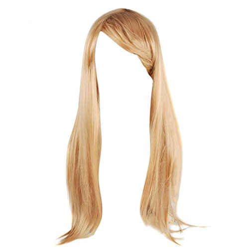 Yahee Sexy Damen Perücke Langhaarperücke Cosplay Party Fasching lang Wigs (Glatt Blonde) (Lange Damen-perücke)