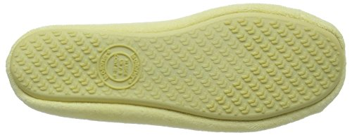 Isotoner Isotoner Terry Ballet Slipper With Spot Bow, Chaussons femme Jaune - Yellow (Yellow)