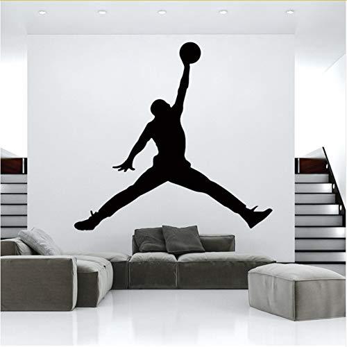 ttoos 55x58cm Hot Jordan Pvc Basketball Wandaufkleber Tapete Für Kinderzimmer Schlafzimmer Dekor Diy Pvc Dekoration Zubehör ()