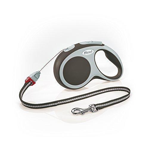 flexi Roll-Leine Vario S Seil 8 m braun für Hunde bis max. 12 kg