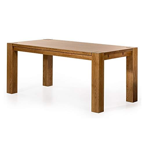 Alkove - Hayes – Ausziehbarer Massivholztisch, 180cm, Wildeiche