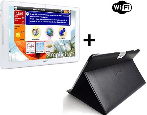 tablette senior simplicitab1 10 1 16 go wifi tui folio prestige stylet suaou. Black Bedroom Furniture Sets. Home Design Ideas