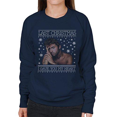 George Michael Last Christmas I Gave You My Heart Knit Women's Sweatshirt