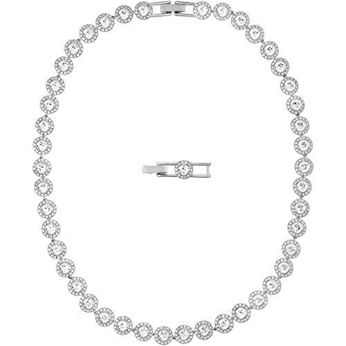 Swarovski Angelic Halskette, weiss, rhodiniert