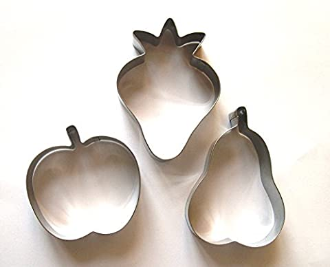 Fruits Cookie cutter Apple Strawberry Pear Biscuit Stainless Steel Baking