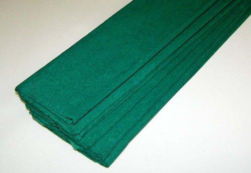 10 Bögen Krepppapier dunkelgrün je: 50x250cm Bastelposten Großpack Preishit 2703