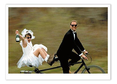 Palm Drücken INC.–Hochzeit Karte Hochzeitspaar Tandem–1Karte & Umschlag–in den USA Gedruckt