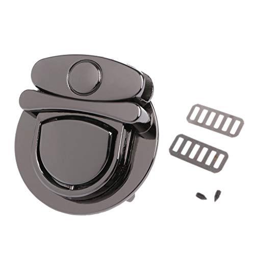 Yangfr Lederhandwerk Zubehör Drehverschluss Verschluss Schnalle Twist Lock Hardware für Tasche Schultertasche Handtasche DIY Basteln Drehschloss Verschluss BK - Schnalle Handtasche Tasche