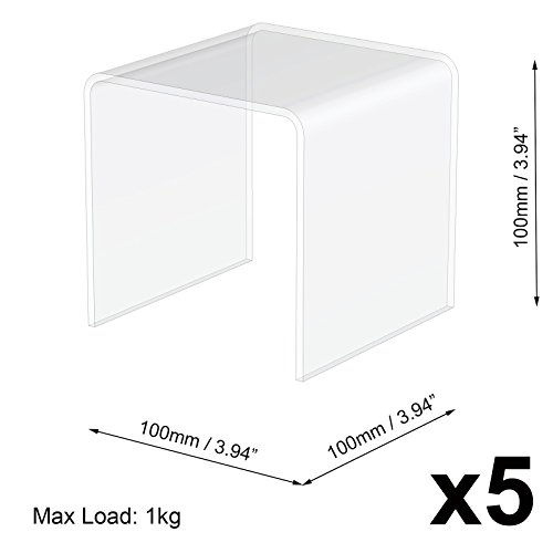 5 10 X 10 X 10 Cm transparent Acryl/Plexiglas Schrank Display High Riser Ständer Sockel -