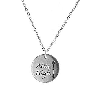 Objectif haute jeton Charm Necklace