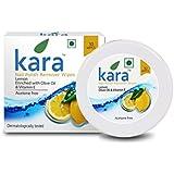Kara Wipes Nail Polish Remover, Lemon (30 Pulls)