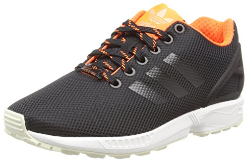 buy popular 6c1d4 99b94 adidas ZX Flux, Unisex-Erwachsene Sneakers,Schwarz (Core Black Solar Orange