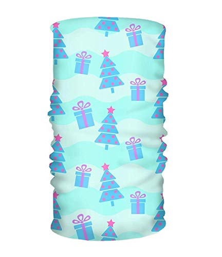 Wfispiy Christmas Tree Gift Face Bandana Mask, Neck Balaclava and Sport Scarf Stirnband Soft Sweatband