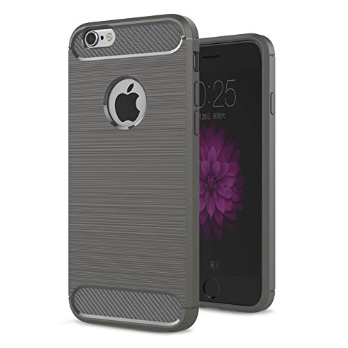 """AOFad Menthe Coque Pour iPhone 6 Plus,[5.5""""], Confortable Tréfilage, Protection des lourds TPU TPU Armure Série TF053 TF052+Grey"""