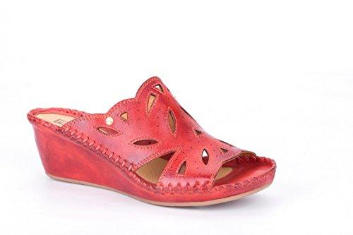 Pikolinos Keil Pantoletten Margarita 943-1606 Damen Schuhe Clogs Rot