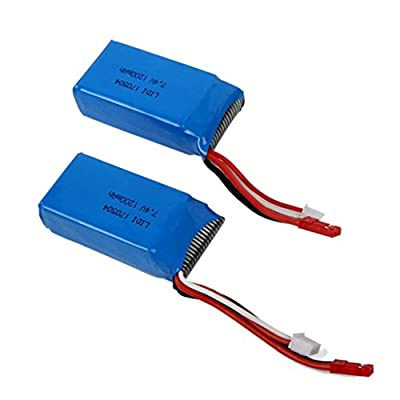 MuSheng TM 2x RC Part 7.4V 1200mAh Battery for WLtoys VA949 A959 A969 A979 K929 Quadcopter Drone